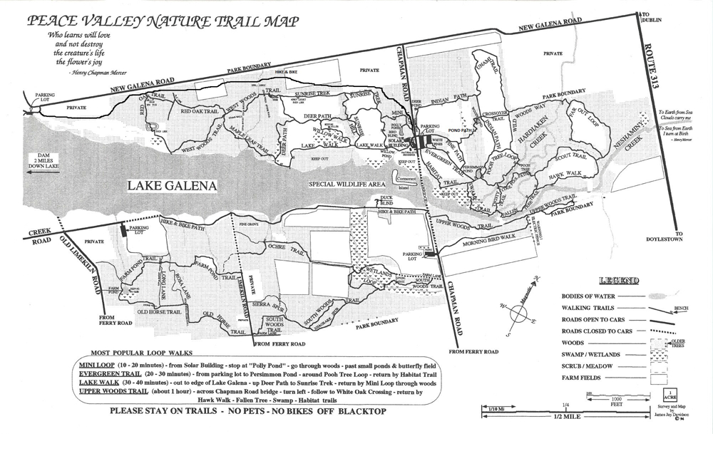 Peace Valley Park Map Trail Review: Peace Valley Park |